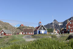 Sisimiut, Greenland. Museum and historic houses in Sisimiut, Greenland stock images