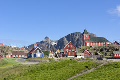 Sisimiut Grönland Arkivbild