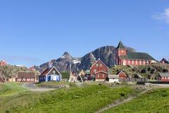 Sisimiut, Gronelândia Fotografia de Stock