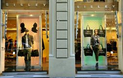 Sisley fashion shop in Florence, Italy  Royalty Free Stock Photography