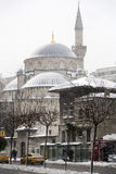Sisli mosque under snow, Sisli district of Istanbul, Turkey Stock Images