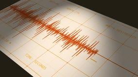 Sismógrafo (datos del terremoto del ordenador) stock de ilustración