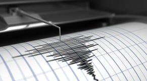 Sismógrafo y terremoto Imágenes de archivo libres de regalías