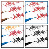 sismographe Images stock