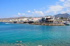 Sissi镇和海看法  免版税库存照片