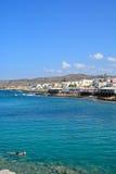 Sissi镇和海看法  库存图片