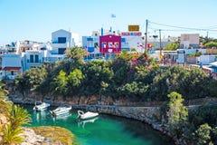 Sissi-Erholungsort auf Insel von Kreta Stockfotos