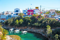 Sissi semesterort på ön av Kreta Arkivfoton