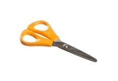 Sissors vith orange handels Royaltyfri Foto