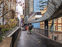 Sista dag av Sydney Monorail Royaltyfria Foton