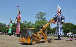 Sista förberedelser av den Dussera festivalen Royaltyfri Bild