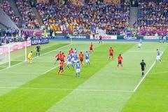 Sista fotbolllek av UEFA-EUROEN 2012 Royaltyfri Foto