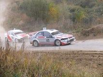 Sista kopp av Ryssland i autocross Royaltyfri Bild