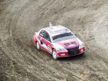 Sista kopp av Ryssland i autocross Royaltyfri Foto