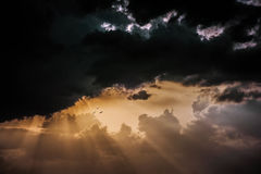 Sista ljus av dagen på Chidambaram, Indien Arkivbilder