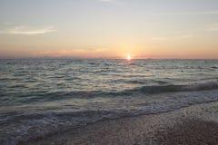 Sista ljus av en Florida solnedgång Arkivbilder