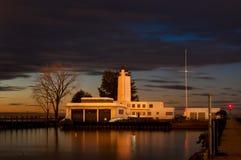 Sista ljus på Coastguard arkivbild