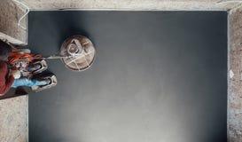 Sista mala för konkret golv, bästa sikt Royaltyfri Fotografi