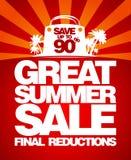 Sista mall för sommarförsäljningsdesign. Royaltyfria Bilder