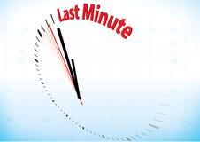 sista minut stock illustrationer