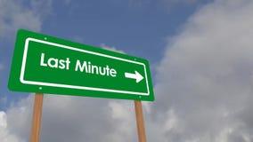 Sista minut på tecken lager videofilmer