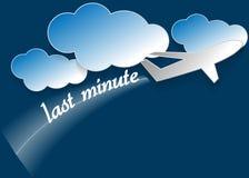 Sista minuten stock illustrationer