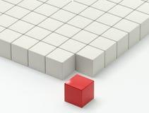 sista monteringsställe för kub Fotografering för Bildbyråer