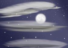 sista moon Royaltyfri Foto