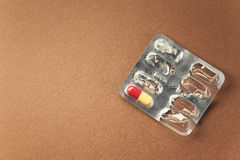 sista pill Arkivfoto