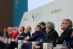 Sista plenarsammanträde av 4th St Petersburg internationella kulturella forum Royaltyfri Foto