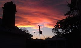 Sista solnedgång Royaltyfri Bild