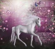 sista unicorn royaltyfri illustrationer
