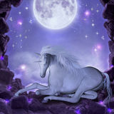 sista unicorn Royaltyfri Foto