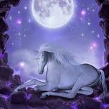 sista unicorn vektor illustrationer