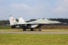 Sistani MiG-29 Fulcrum myśliwa samolot Obrazy Stock