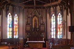 SISTANI, STARY SMOKOVEC - STYCZEŃ 06, 2015: Kościół Niepokalany poczęcie Sistani, Wysokie Tatras góry Obraz Stock