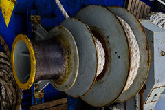 Sistem de la cuerda del ancla foto de archivo