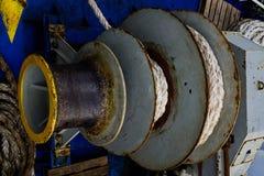 Sistem della corda dell'ancora Fotografia Stock