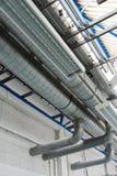 sistem industriale dei tubi del condizionatore d'aria Immagini Stock