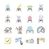 Sistema ágil del icono del equipo stock de ilustración