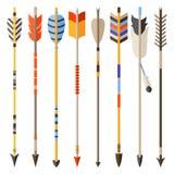 Sistema étnico de flechas indias en estilo nativo Imagenes de archivo