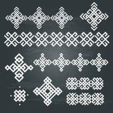 Sistema étnico del diseño geométrico Imagen de archivo libre de regalías