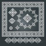 Sistema étnico del diseño geométrico Fotos de archivo libres de regalías