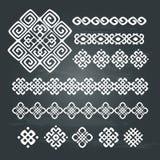 Sistema étnico del diseño geométrico Foto de archivo libre de regalías