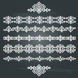 Sistema étnico del diseño geométrico Fotos de archivo