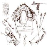 Sistema étnico del nativo americano stock de ilustración