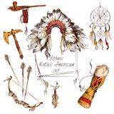 Sistema étnico del nativo americano coloreado libre illustration