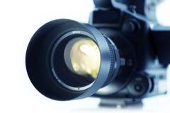 Sistema ótico da lente de câmera fotografia de stock
