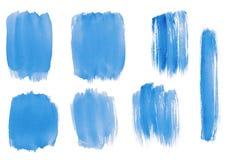 Sistema abstracto azul de la acuarela Libre Illustration