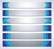 Sistema abstracto de la bandera del color Foto de archivo libre de regalías